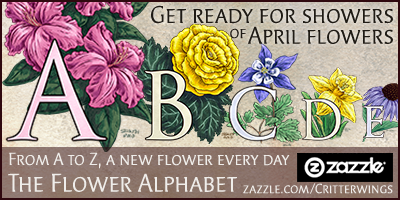 Critterwings Flower Alphabet